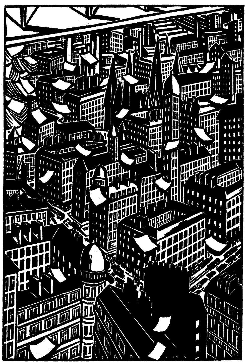 Paco Roca, Premio Nacional de Cómic en 2008 por su obra 'Arrugas', construye para EL PAÍS un microrrelato de ficción en seis partes, a partir de seis de las ilustraciones incluidas en el libro 'La ciudad', de Frans Masereel