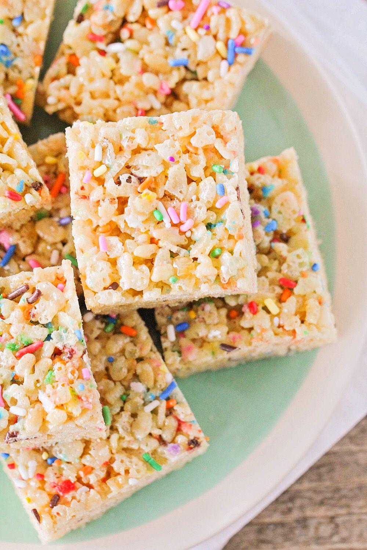 Cake batter rice krispy treats rice krispie treats