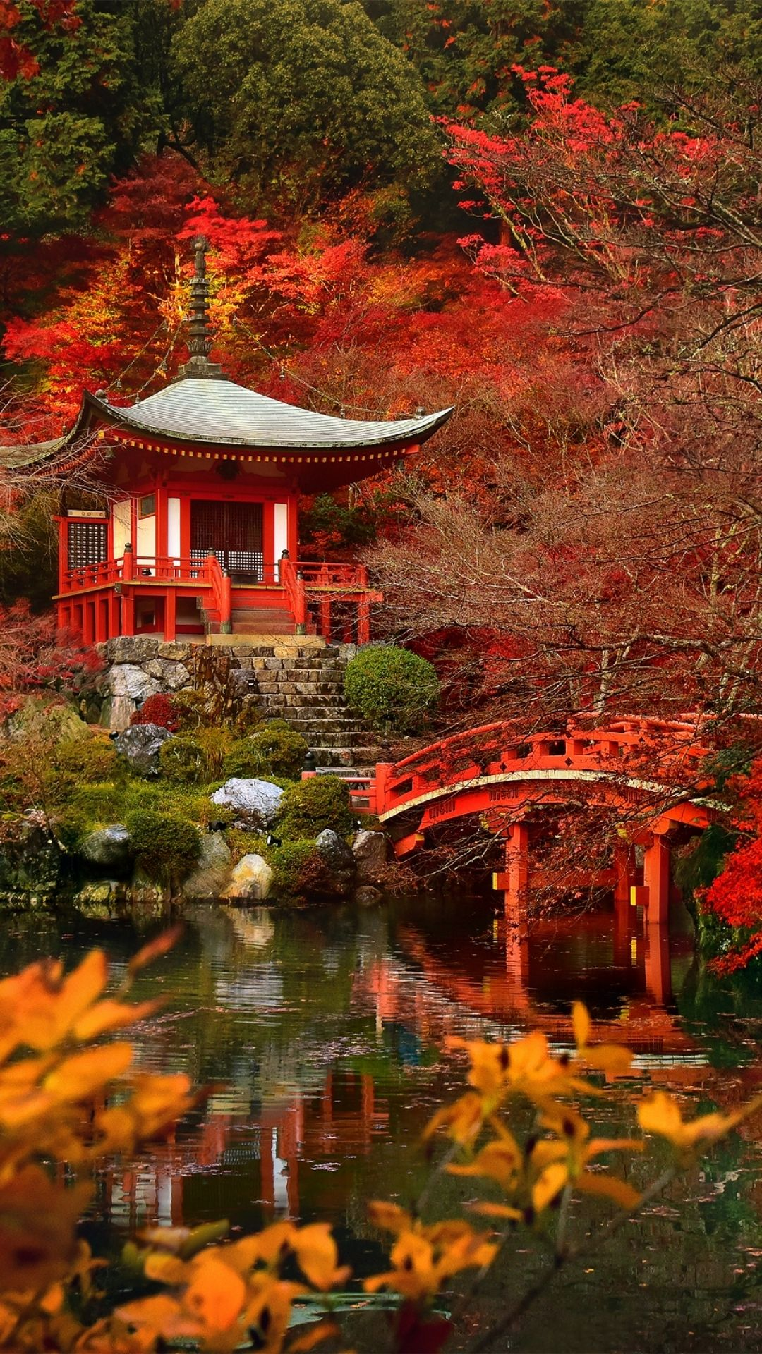 Autumn In Japan - Tap to see more beautiful nature wallpapers! - @mobile9 | iPhone 8 & iPhone X ...