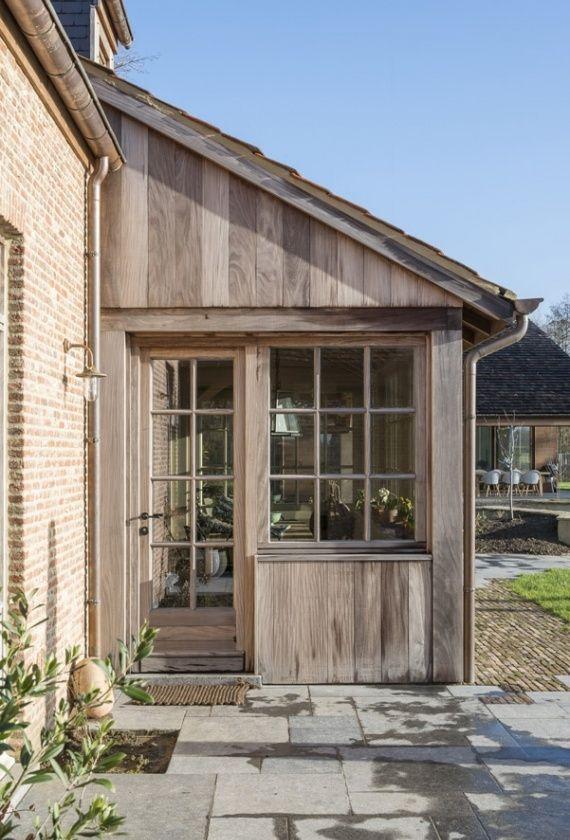 Houten aanbouw woodarts tuinschuur pinterest verandas extensions and porch - Idee huis uitbreiding ...