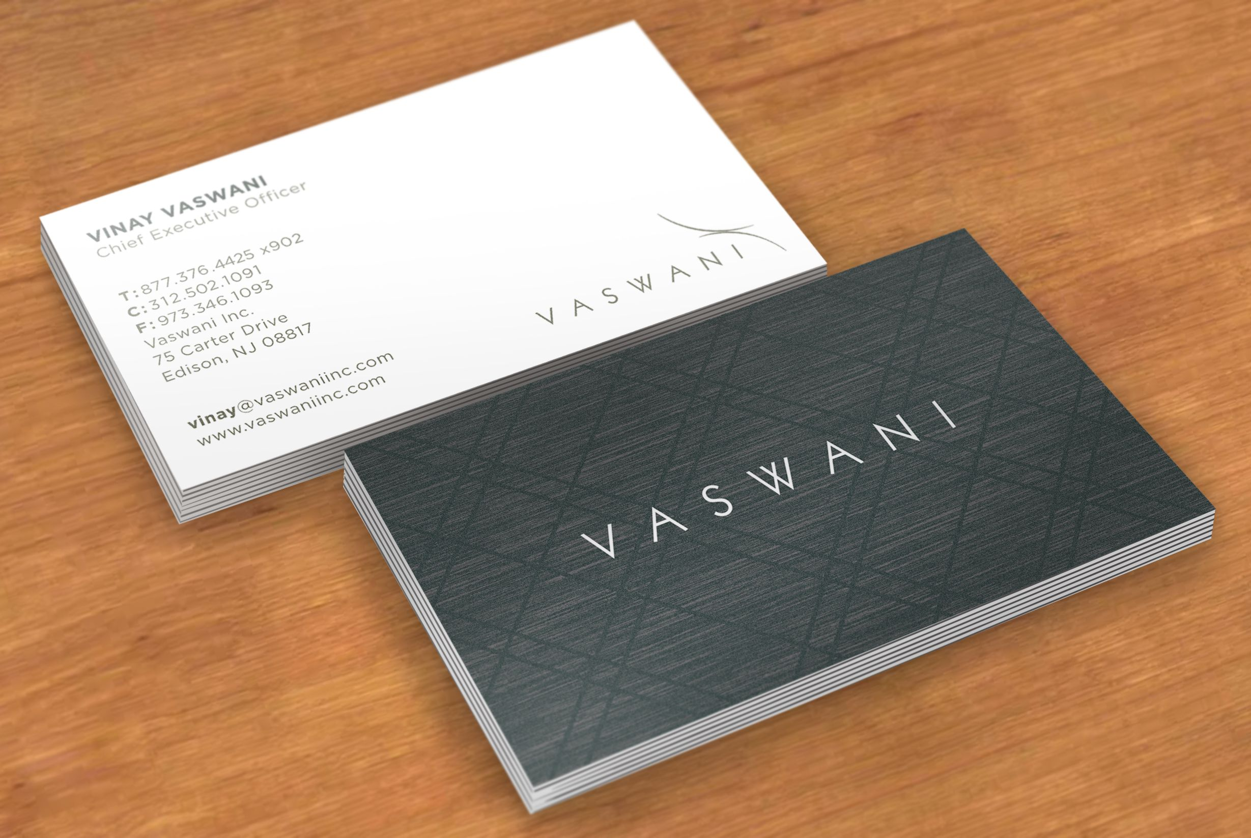 Custom Card Template design a business card : Vaswani Business Card Design : graphic design : Pinterest ...