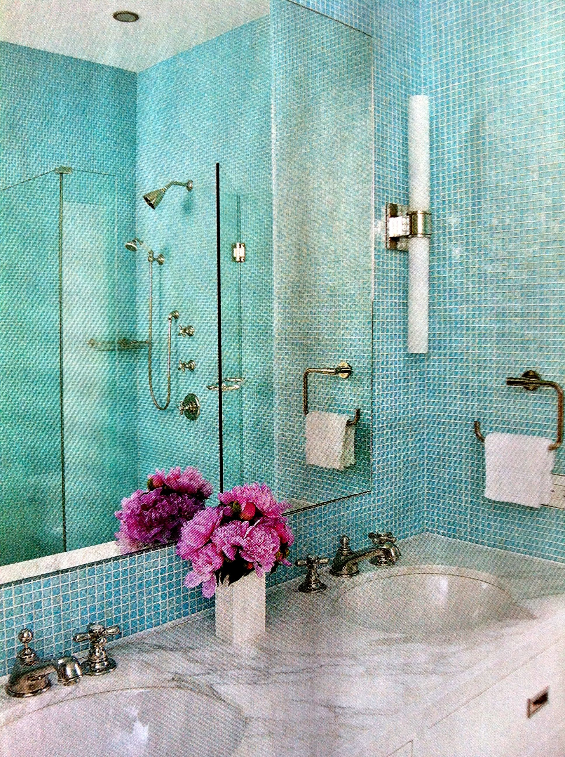 Pacific blue glimmer glass tile: Found at http://www ...