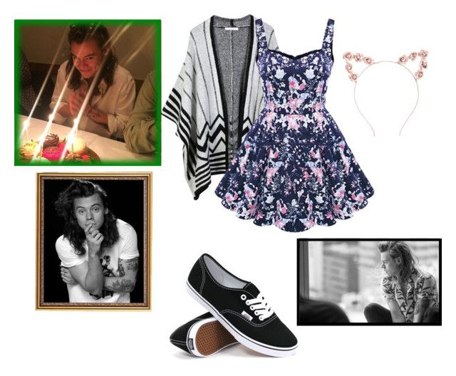 """Happy Birthday Hazza!!!"" by mamaloser1 ❤ liked on Polyvore featuring LE3NO, Charlotte Russe, Vans, women's clothing, women, female, woman, misses and juniors"