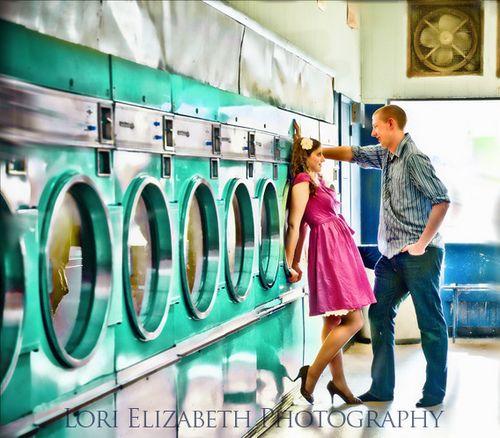 Laundromat Laundry Mat Vintage Maternity Photos Laundromat