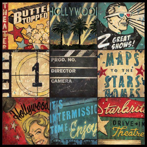 "Movie Theme Wall Art print and canvas ""Starstruck"" by Aaron Christensen"