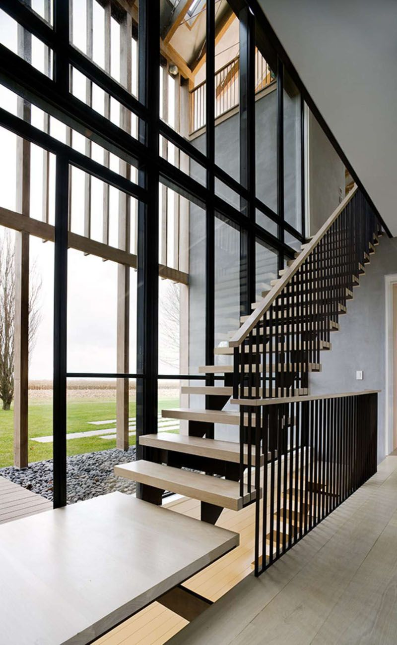 Staircase window exterior design  these stairs that allow you to enjoy the view through the wall of