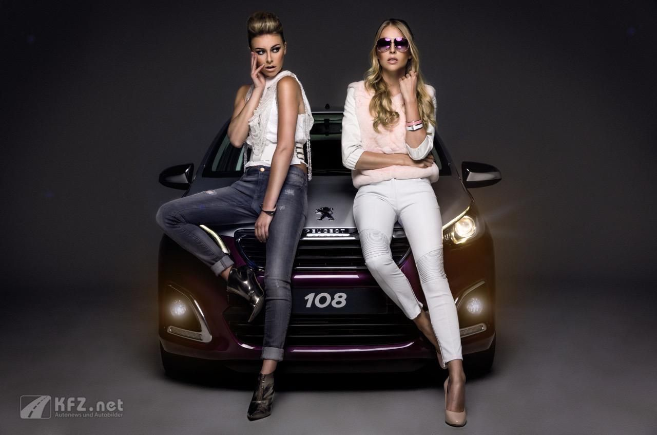 peugeot 108 with Girls #hotbabe