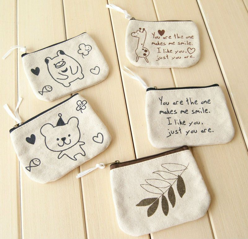 Cute Small Canvas Zipper Pouch Wholesale Buy Small