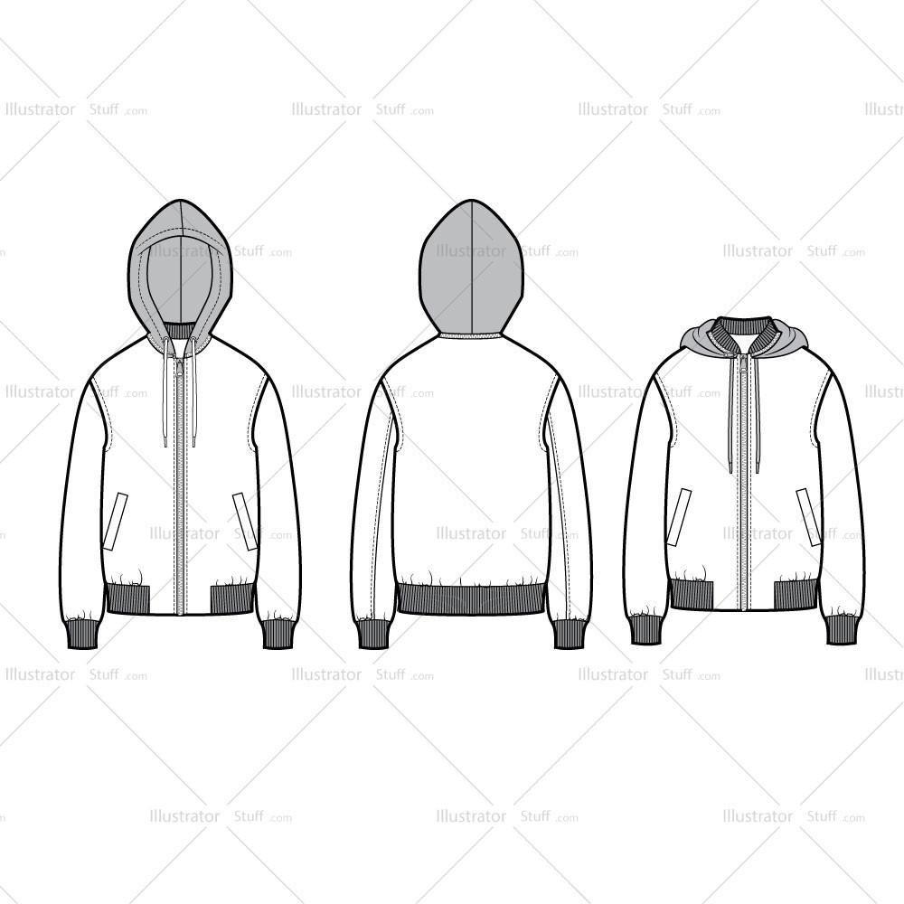 Free Fashion Flat Templates Trim Pack Courses Free Tutorials On Adobe Illustrator Tech Packs Freelancing For Fashion Designers Oversized Bomber Oversized Bomber Jacket Fashion Design Jobs [ 1000 x 1000 Pixel ]