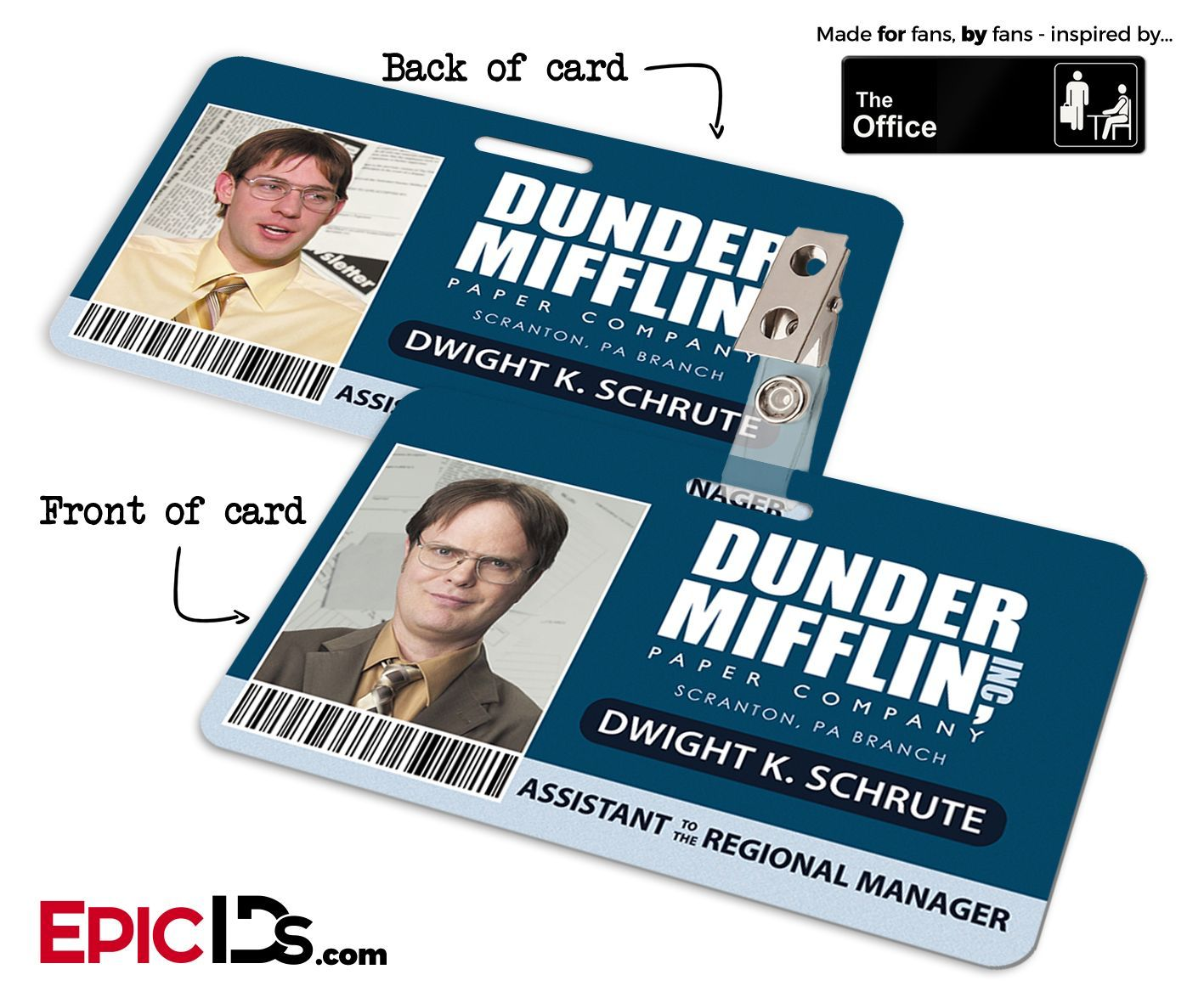 picture about Dunder Mifflin Name Tag Printable named The Office environment Motivated - Dunder Mifflin Personnel Identification Badge