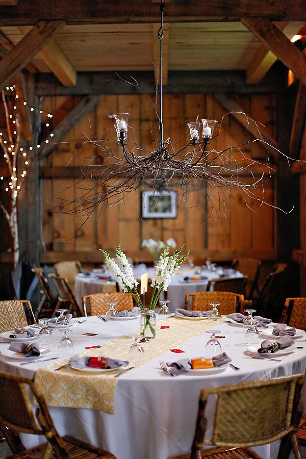 Vermont Wedding By Two Chicks Photography Table Settings