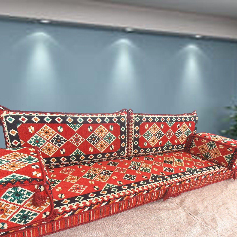 Amazon De Bodenmobel Sofa Handgefertigte Boden Sofa Set Arabische Majlis Arabische Jalsa Boden Sitzcouch Boden Kissen Sitzgruppe Bodenkissen Bodensessel