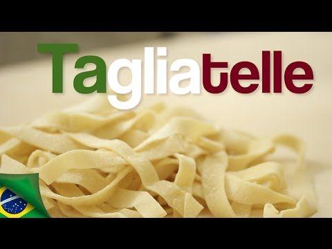 "Receita de Macarrão Tagliatelle "" A Massa Fresca Italiana """