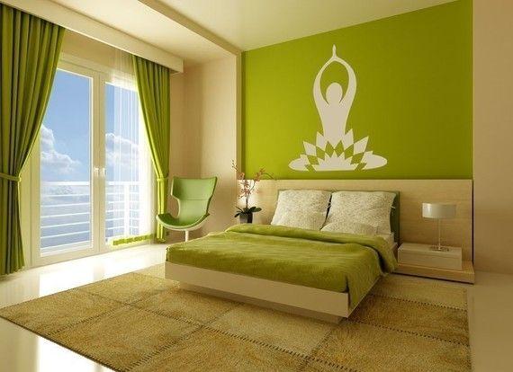Yoga Wall Decal Yoga Wall Art Yoga Decal Yoga Studio Decor Etsy In 2021 Bedroom Wall Bedroom Green Bedroom Interior