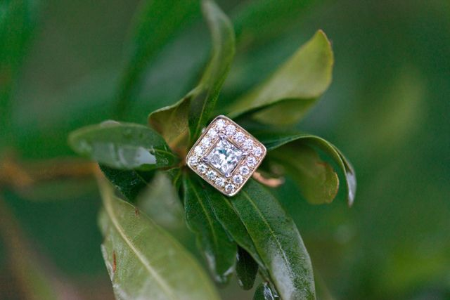 This unique square, gold & diamond engagement ring is simply stunning! | Madison Short Photography