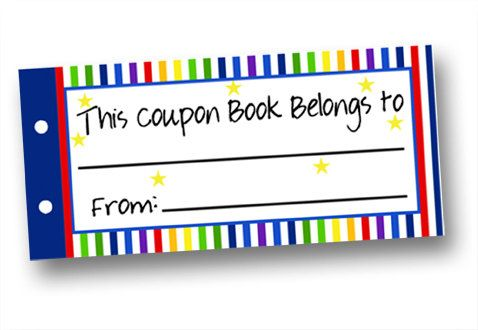 Instant Download Last Minute Gift Kids Coupon Book Kids Blank