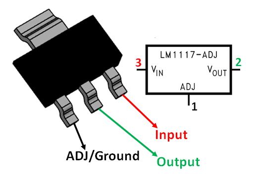 lm1117 voltage regulator pinout