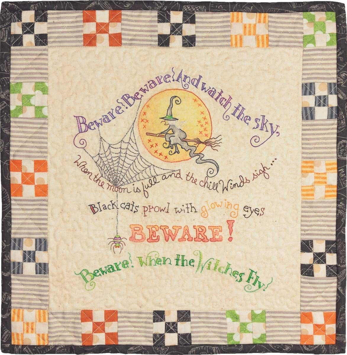 When Witches Fly Hand Embroidery Pattern by Crabapple Hill Studio ...