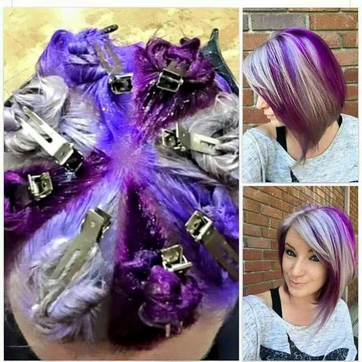 How To Get Great Chunky Multi Colour Hair Hair Color Techniques Hair Styles Purple Hair