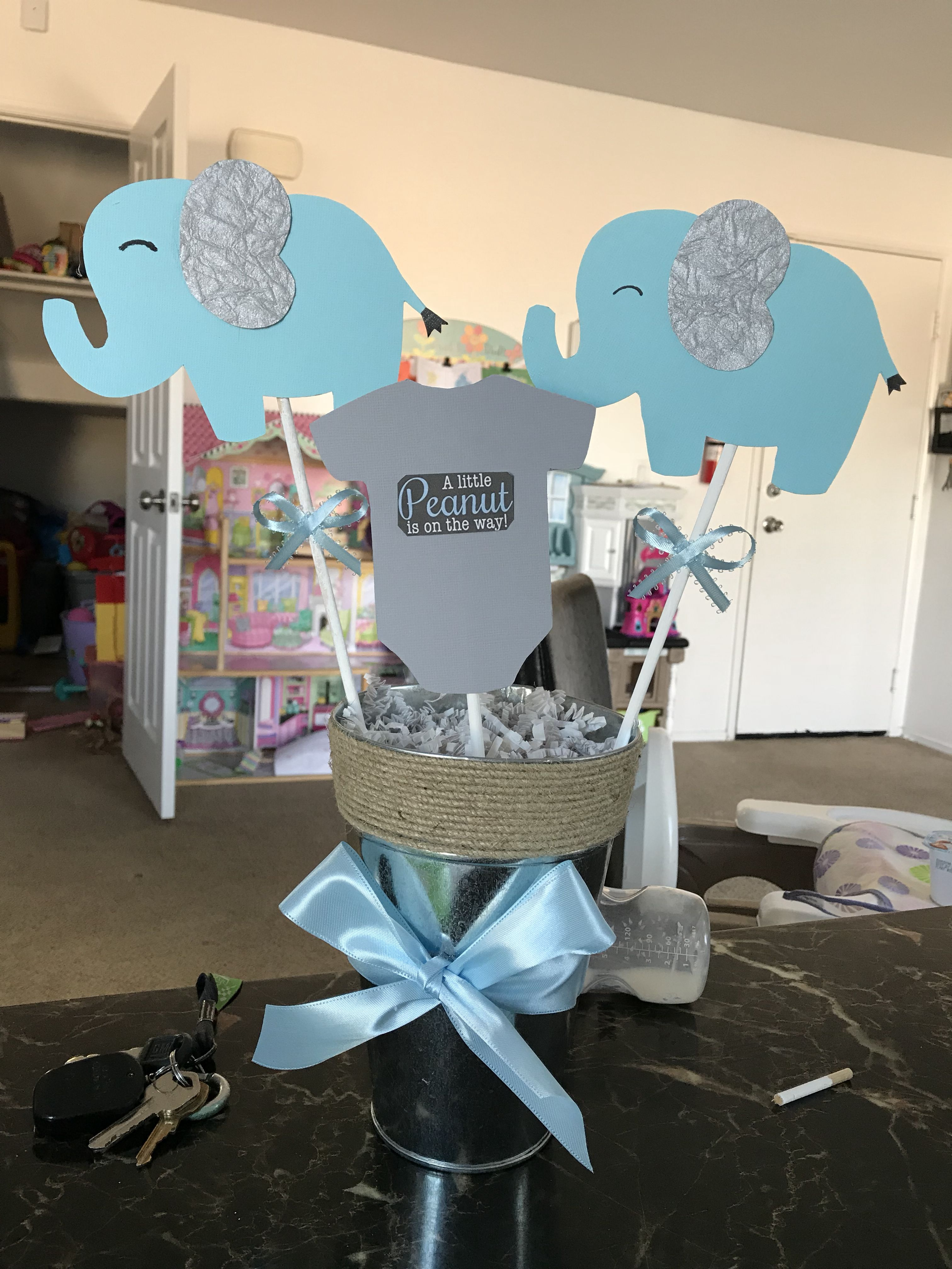 Centerpiece Baby Shower Elephant Elephant Baby Shower