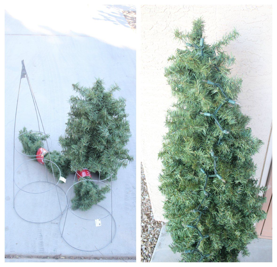 Great DIY Using Tomato Cages And Faux Garland: Making A