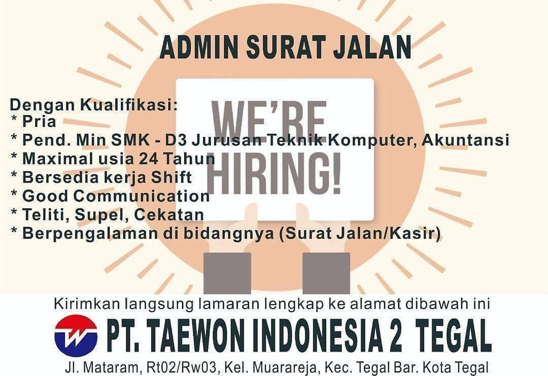 19+ Pt taewon indonesia tegal information