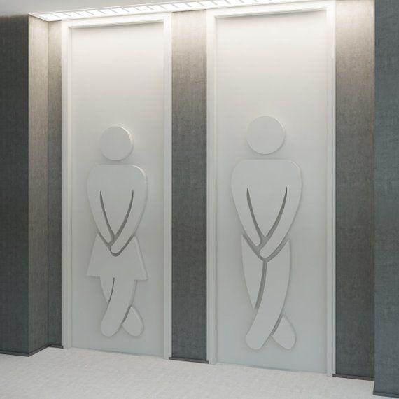 Bad Zeichen, WC Zeichen, Dreidimensionale Zeichen, Kunst Für Büros  Weltweit, Empfänge