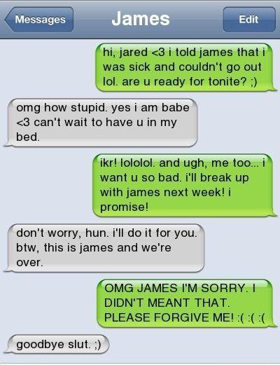 cheating breakup sluts