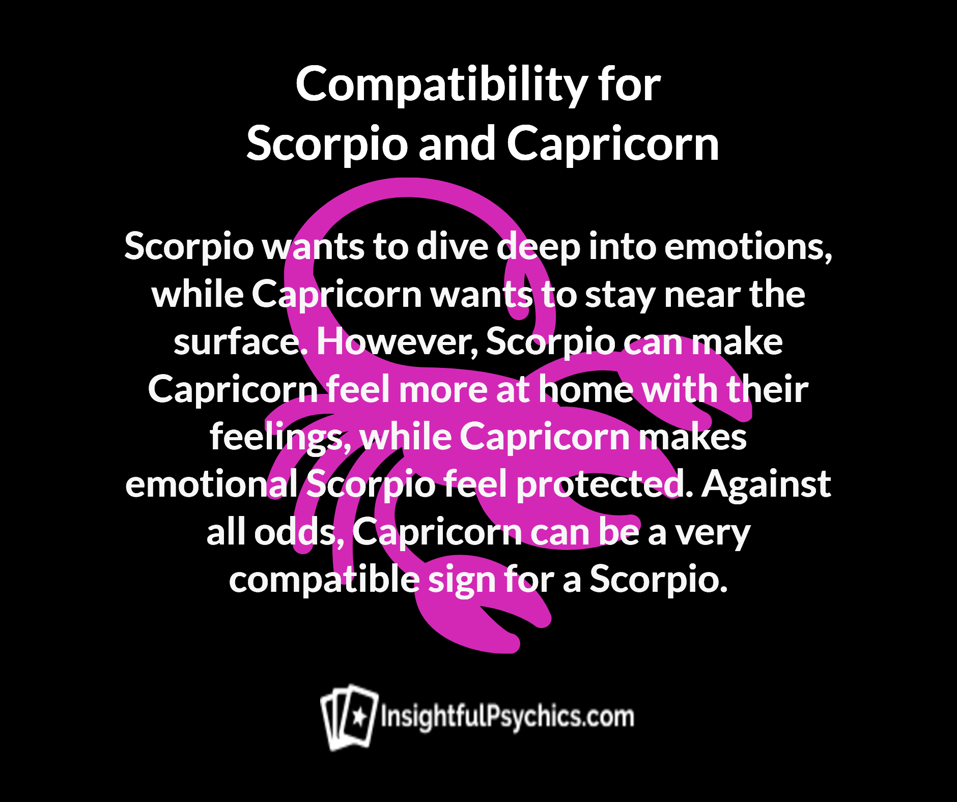 are scorpios and scorpio compatible