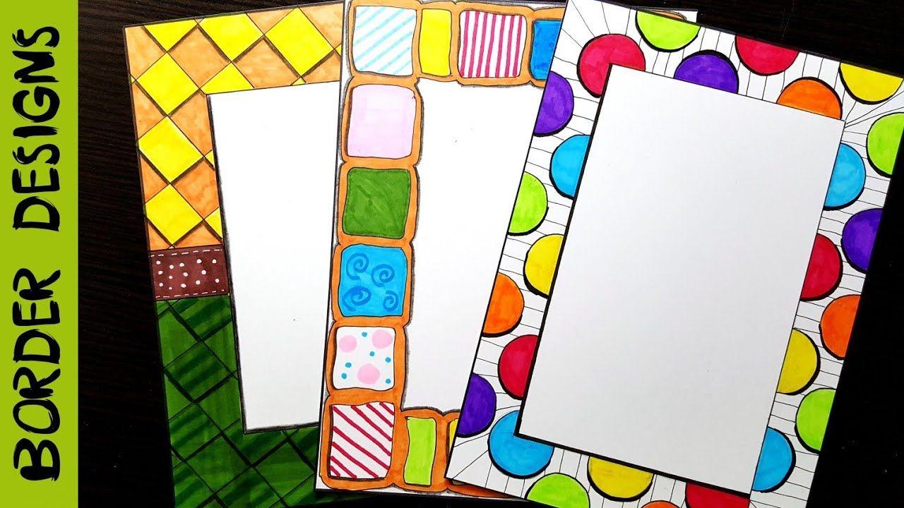colors   border designs on paper   border designs