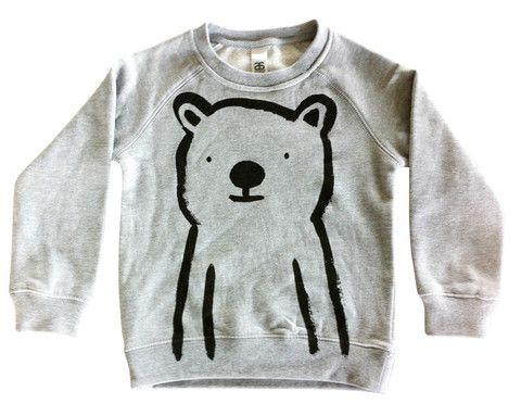 Bear Sweatshirt - Grey Marle