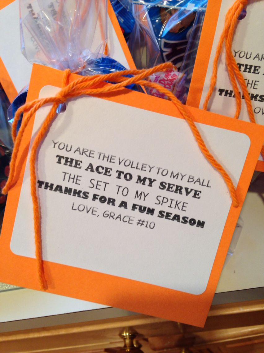 End Of Volleyball Season Favor Volleyball Snacks Volleyball Signs Volleyball Gifts