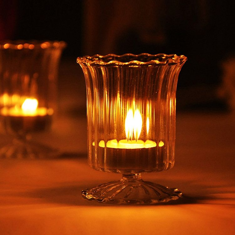 Us 9 42 Cup Glass Candle Holder Candelabrum Candle Stick Candle