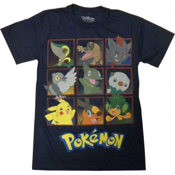 6764d6ee6 Pokemon Black & White Characters Men Anime T-shirt (Navy Blue ...