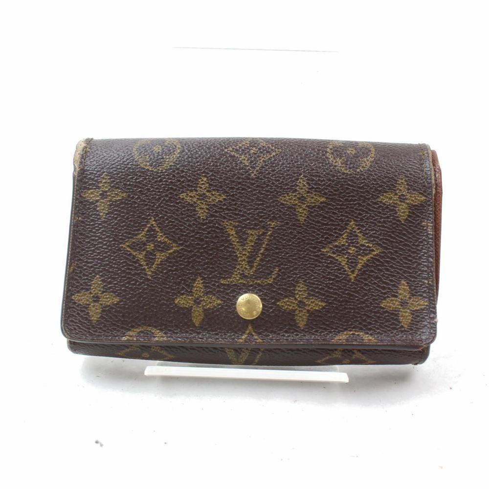 208c8b366141 Authentic Louis Vuitton Wallet Porte Monnaie Tresor Brown Monogram 365943   fashion  clothing  shoes  accessories  womensaccessories  wallets (ebay  link)