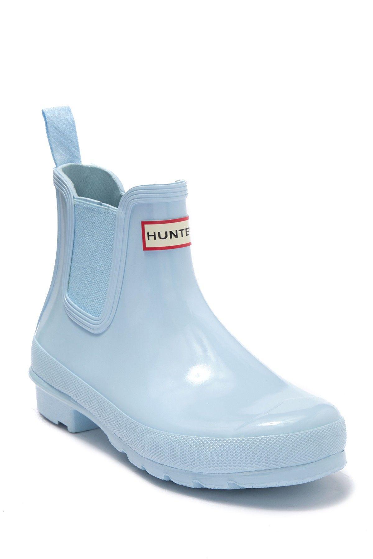 Hunter Original Gloss Waterproof Chelsea Boot Hunter Boots Outfit