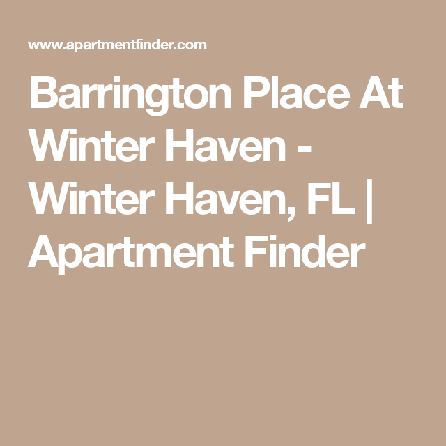 Barrington Place At Winter Haven