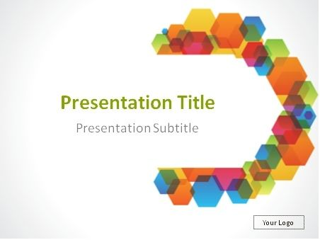 Colorful Semicircle Abstract Background Powerpoint Template