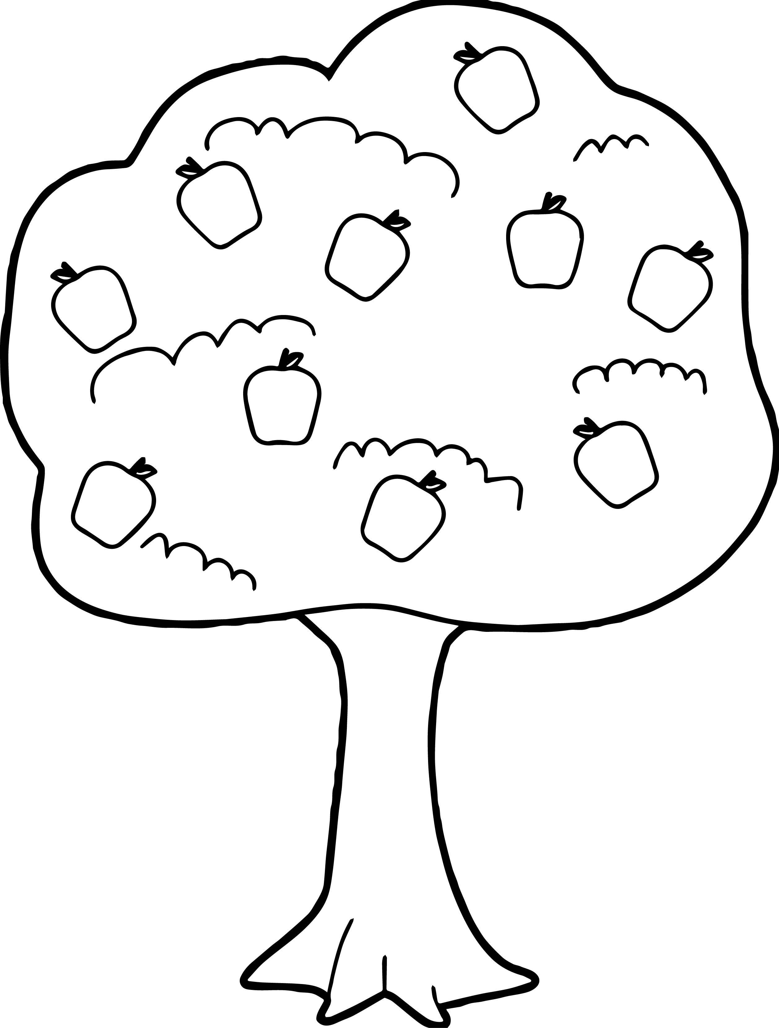 Nice Cute Apple Tree Coloring Page Apple Coloring Pages Tree Coloring Page Fall Coloring Pages