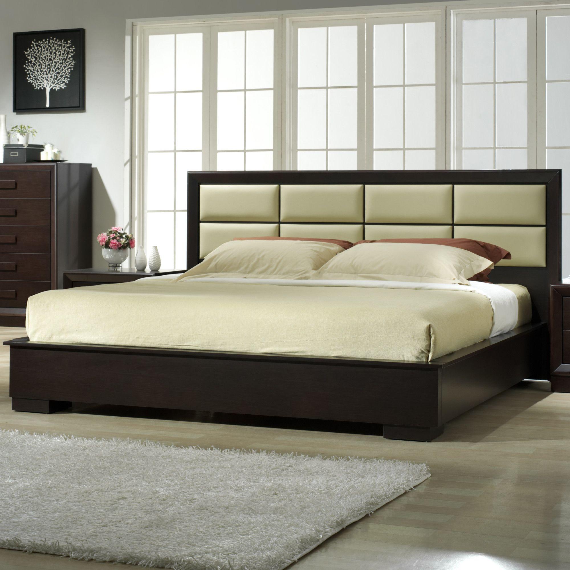 Best Dorinda Spindle Queen Platform Bed Modern Bedroom 640 x 480