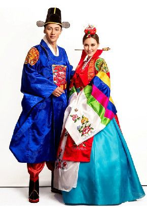 e9141f529 한복 Hanbok : Korean traditional clothes[dress] | Ancient Korean Wedding  Dresses and Hat for Bride and Bridegroom
