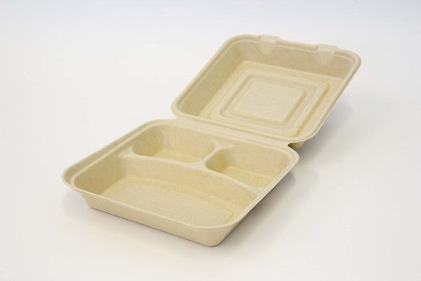 Be Green Packaging #Biodegradable Clamshells - 9 inch 3 Compartment are a truly #sustainable takeout packaging alternative for small businesses and restaurants looking to go #green!