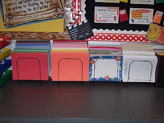 Super organized classroom.