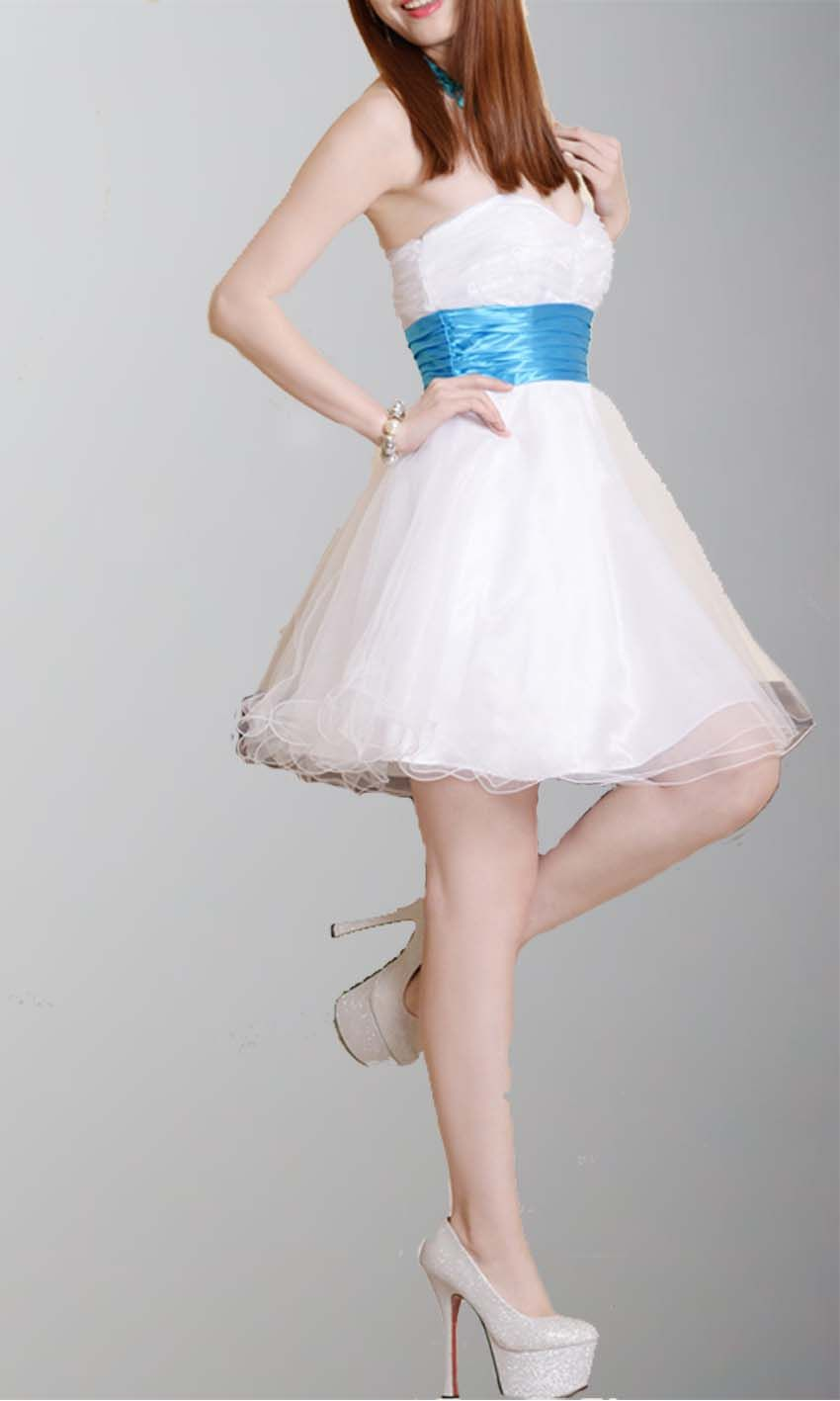 Princess style soft tulle short prom dress ksp dresses