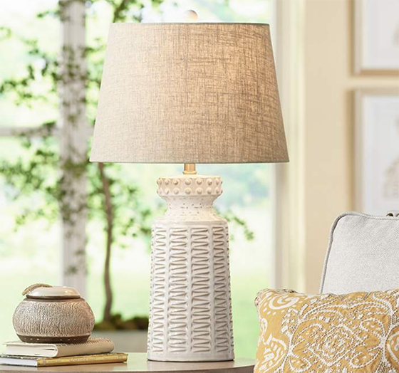 10 Days Of Design Crush Anniversary Giveaways Day 7 Lamps Plus Design Crush White Ceramic Lamps Ceramic Table Lamps Farmhouse Table Lamps