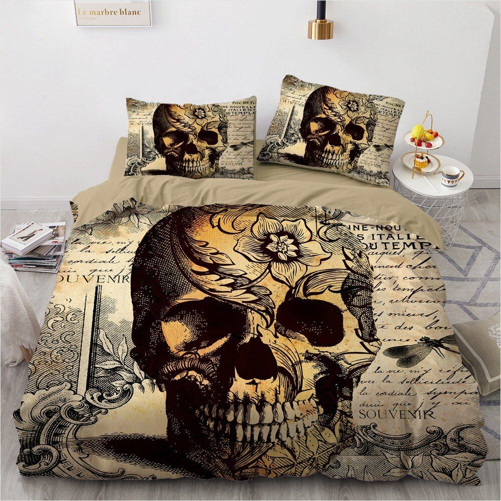 Photo of 3d skull bedding sets (14 varian)