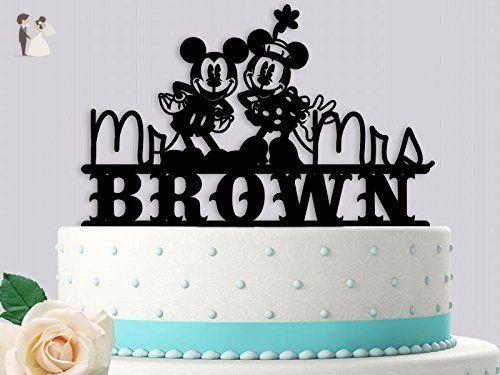 Classic mickey and minnie personalized wedding cake topper venue classic mickey and minnie personalized wedding cake topper venue and reception decor amazon junglespirit Choice Image