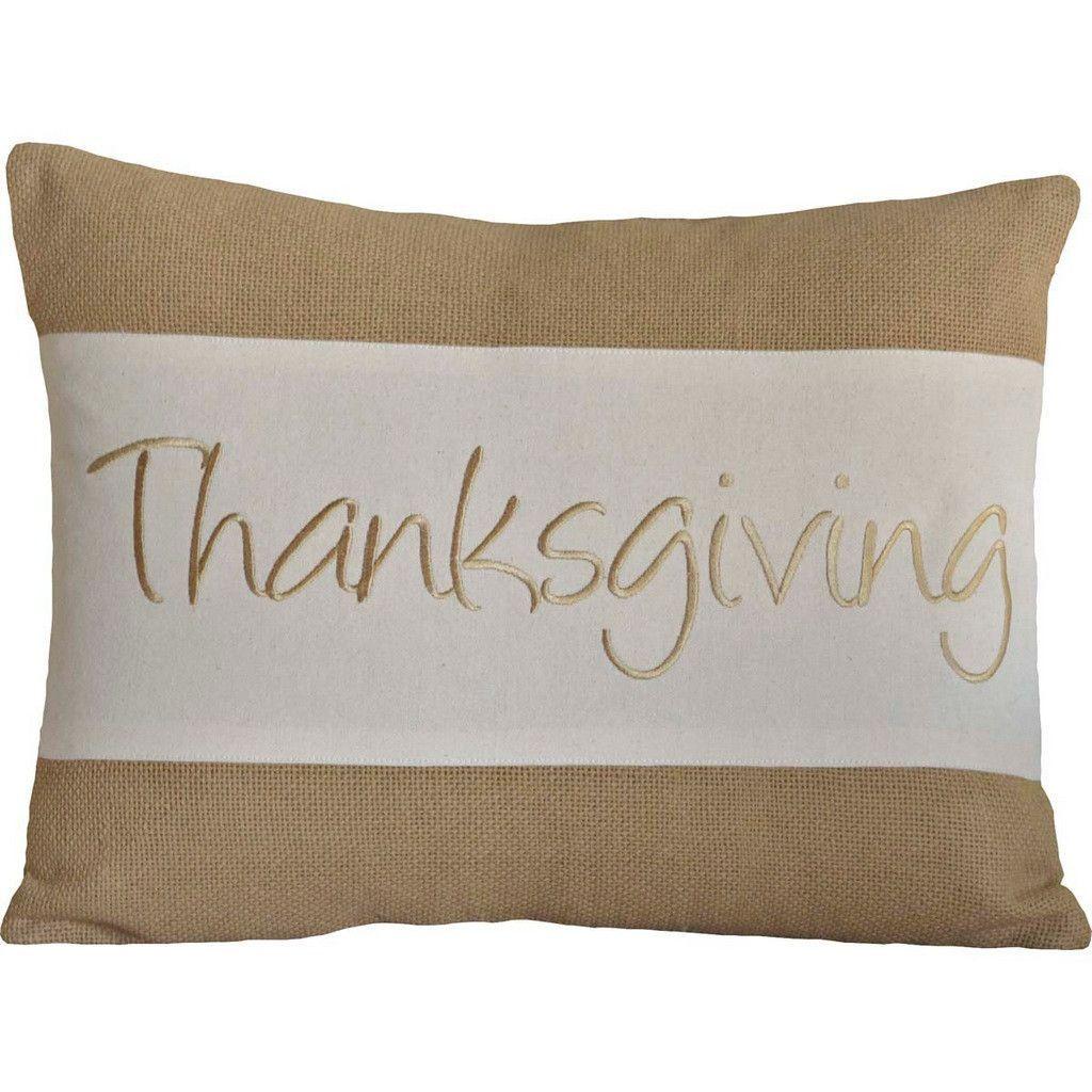 """Thanksgiving Pillow 14x18"""" Filled"""