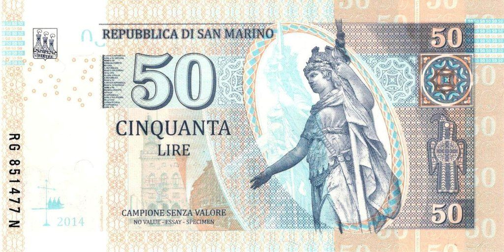 Banknote: San Marino 50 lire (Fantasy Issues) (Gabris ...