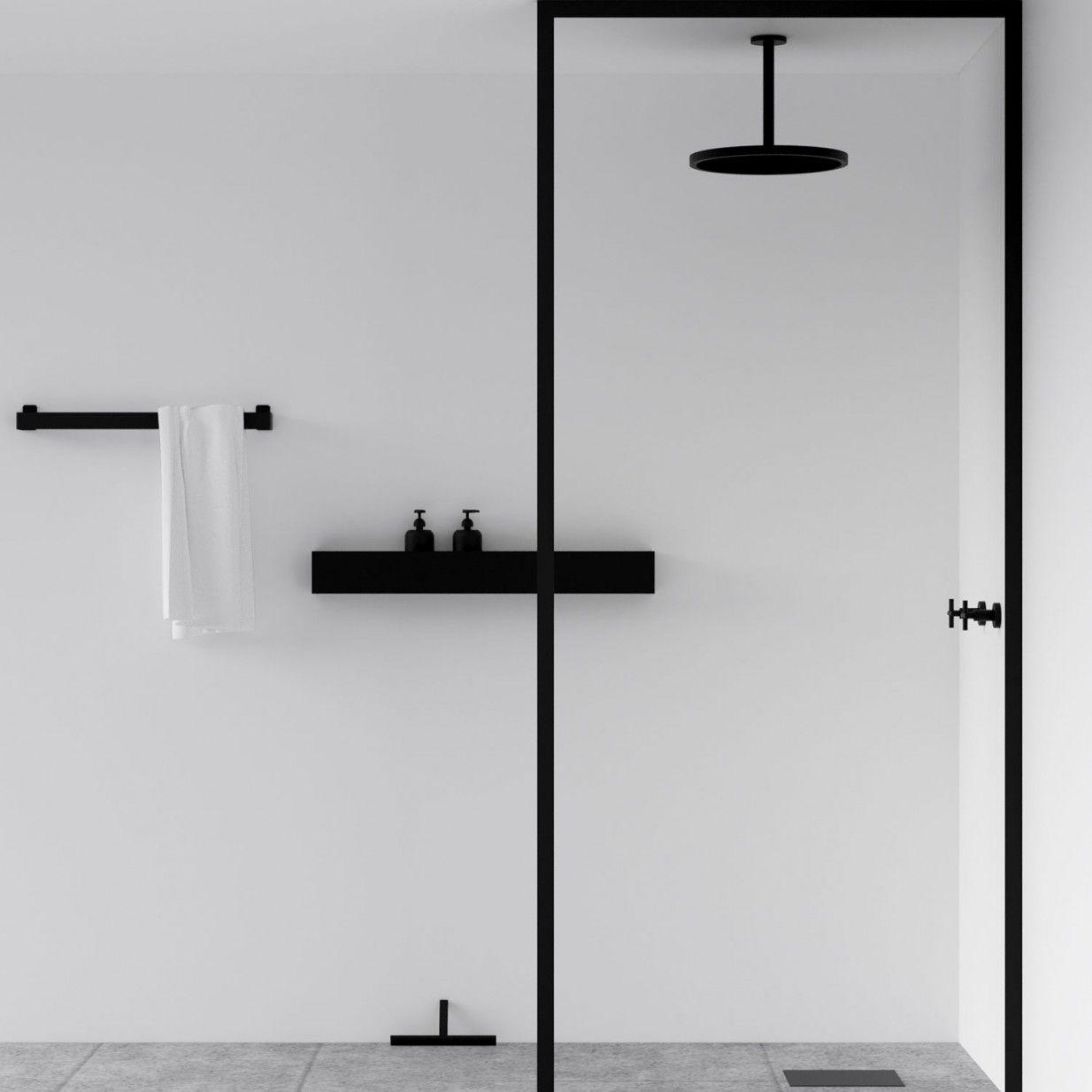 40cm Bath Shelf Black Nichba Design Duschregal Duschregale